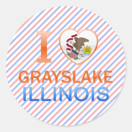 I Love Grayslake, IL Sticker