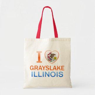 I Love Grayslake, IL Canvas Bags