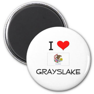 I Love GRAYSLAKE Illinois 6 Cm Round Magnet