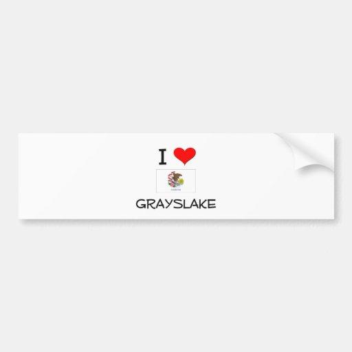 I Love GRAYSLAKE Illinois Bumper Sticker