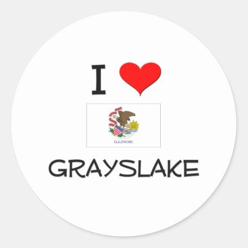 I Love GRAYSLAKE Illinois Stickers