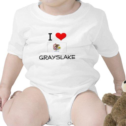 I Love GRAYSLAKE Illinois Baby Bodysuits
