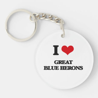 I love Great Blue Herons Keychains