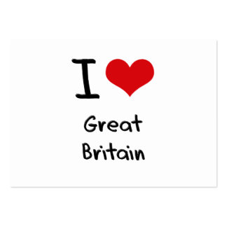 I Love Great Britain Business Card Templates