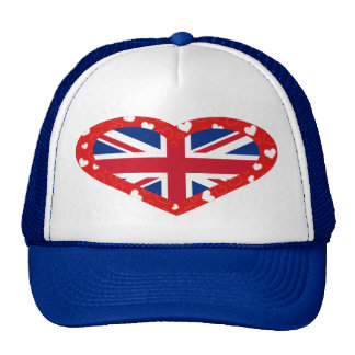 I Love Great Britain Cap Mesh Hats