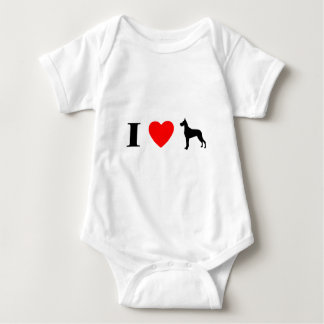 I Love Great Danes Baby Creeper
