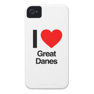 i love great danes iPhone 4 cases