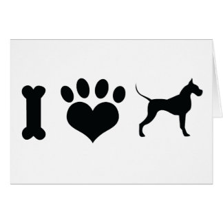 I LOVE Great Danes! Greeting Card