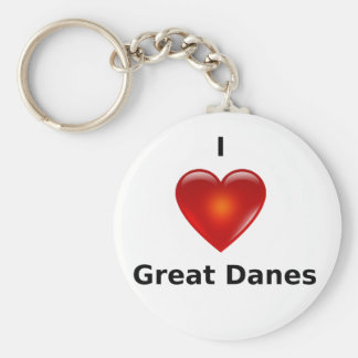 I love Great Danes Keychains