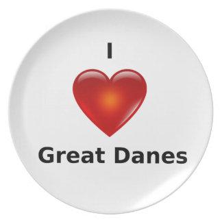 I love Great Danes Dinner Plate