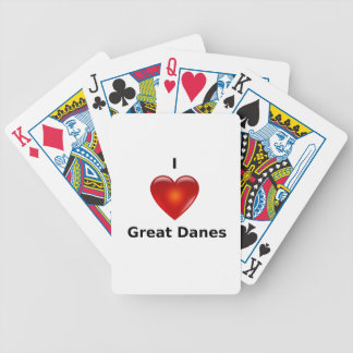 I love Great Danes Playing Cards