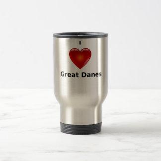 I love Great Danes Stainless Steel Travel Mug