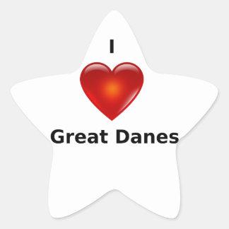 I love Great Danes Star Sticker