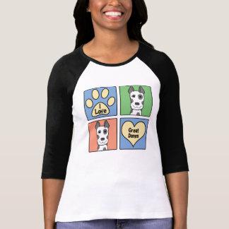 I Love Great Danes T-Shirt