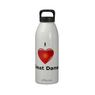 I love Great Danes Water Bottle