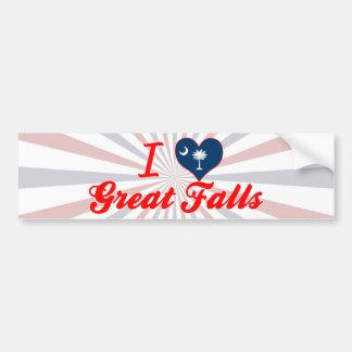 I Love Great Falls, South Carolina Bumper Stickers