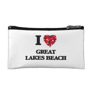 I love Great Lakes Beach Michigan Makeup Bags