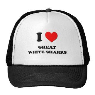 I Love Great White Sharks Mesh Hat