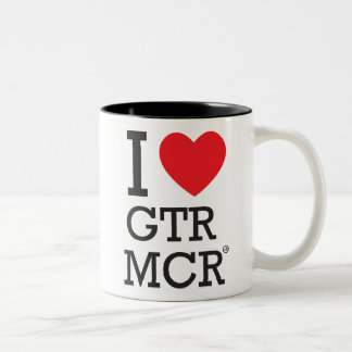 I love Greater Manchester Two-Tone Coffee Mug