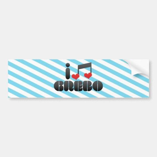 I Love Grebo Bumper Sticker