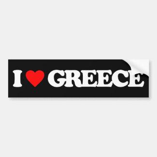 I LOVE GREECE BUMPER STICKER