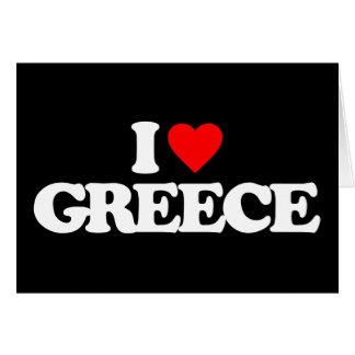 I LOVE GREECE CARD