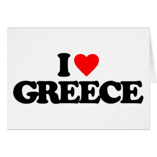 I LOVE GREECE NOTE CARD