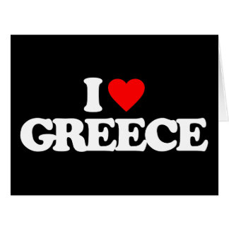 I LOVE GREECE LARGE GREETING CARD