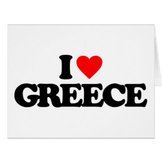 I LOVE GREECE GREETING CARDS