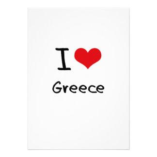 I Love Greece Custom Invitations
