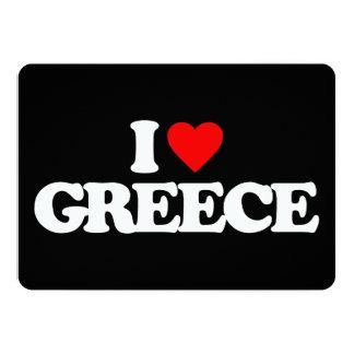 "I LOVE GREECE 5"" X 7"" INVITATION CARD"