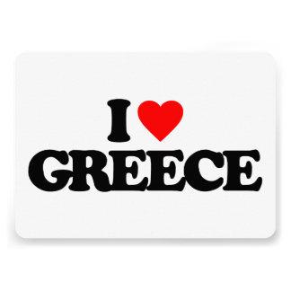 I LOVE GREECE CUSTOM INVITE
