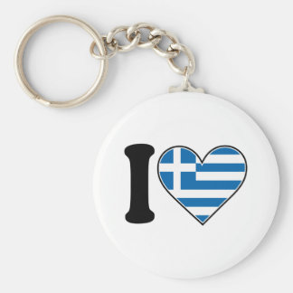 I Love Greece Key Ring