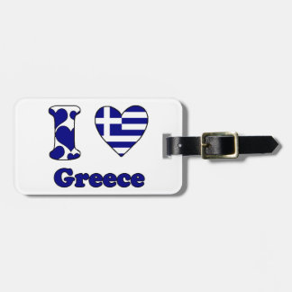 I love Greece Luggage Tag
