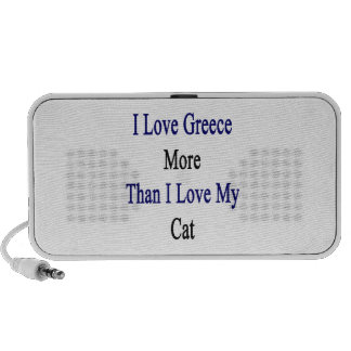I Love Greece More Than I Love My Cat Notebook Speakers