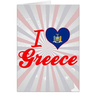 I Love Greece New York Card