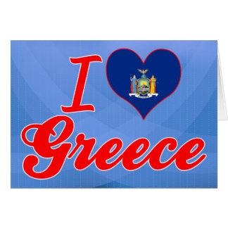 I Love Greece, New York Greeting Cards