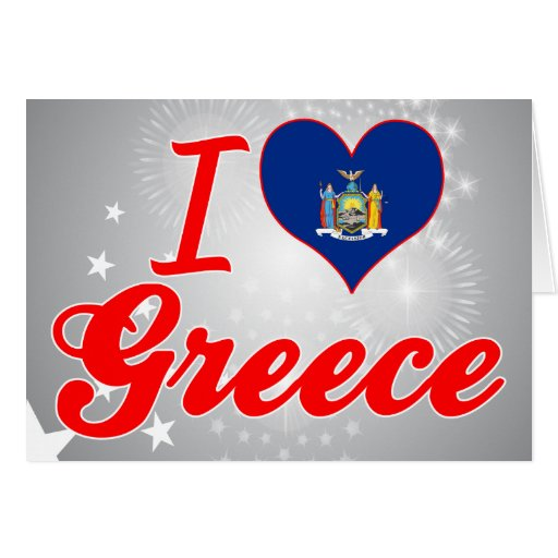 I Love Greece, New York Greeting Cards