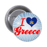 I Love Greece, New York Pinback Buttons