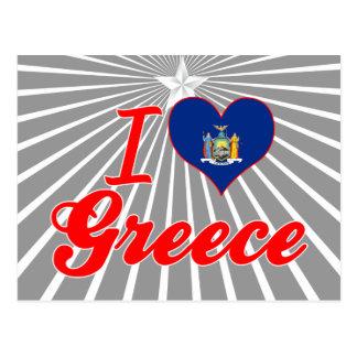 I Love Greece New York Postcard