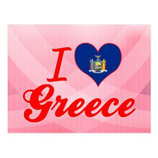 I Love Greece New York Post Cards