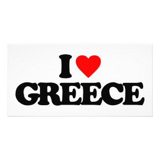 I LOVE GREECE PHOTO CARD TEMPLATE