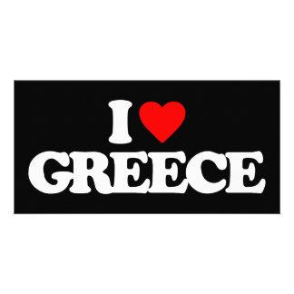 I LOVE GREECE PHOTO CARD