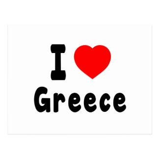 I Love Greece. Post Cards