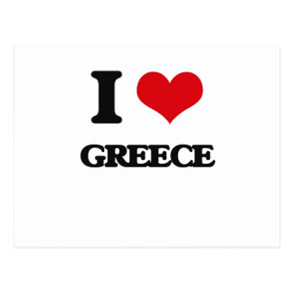I Love Greece Post Cards
