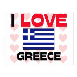 I Love Greece Post Card