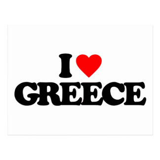 I LOVE GREECE POSTCARDS