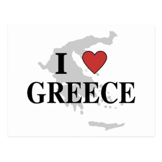 I Love Greece Postcard