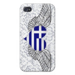 I Love Greece -wings Case For iPhone 4