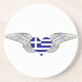 I Love Greece -wings Coaster